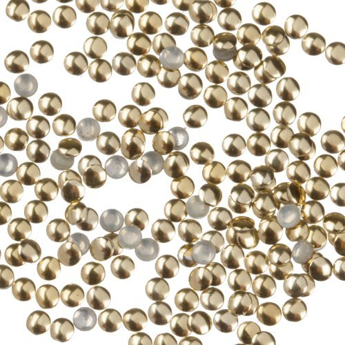 Zink Color Nail Art Gold Round Metal Stud Small 50Pc. Embellishment