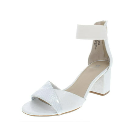 White Mountain Womens Evie Ankle Strap Dress Sandals