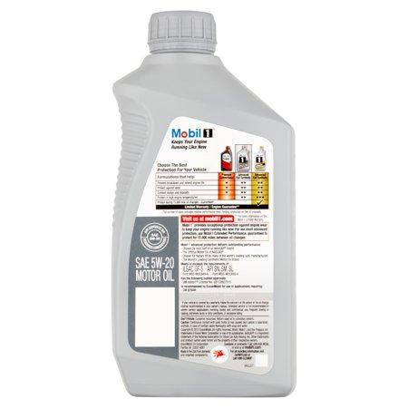 Mobil 1 5w 20 full synthetic motor oil 1 qt best motor oil for Top 1 motor oil review