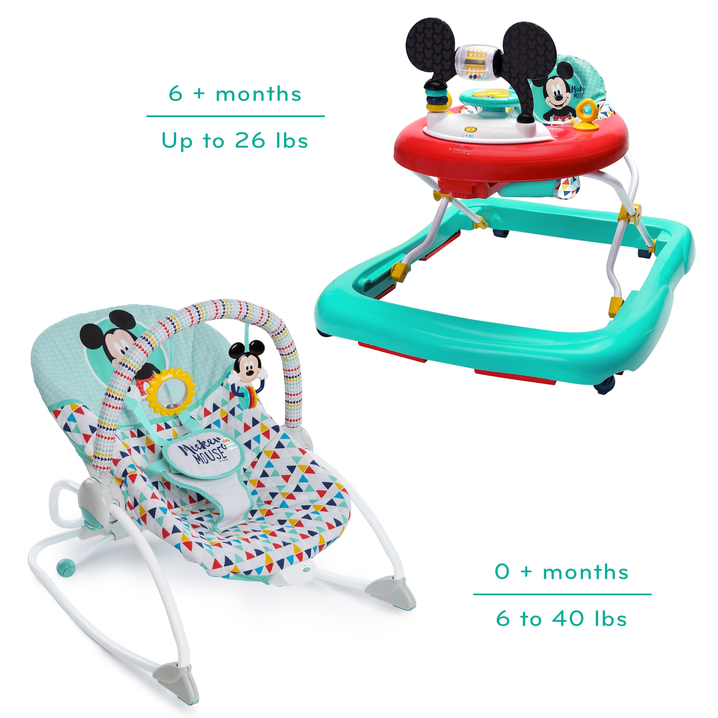 Disney Mickey Walker And Rocker Bundle