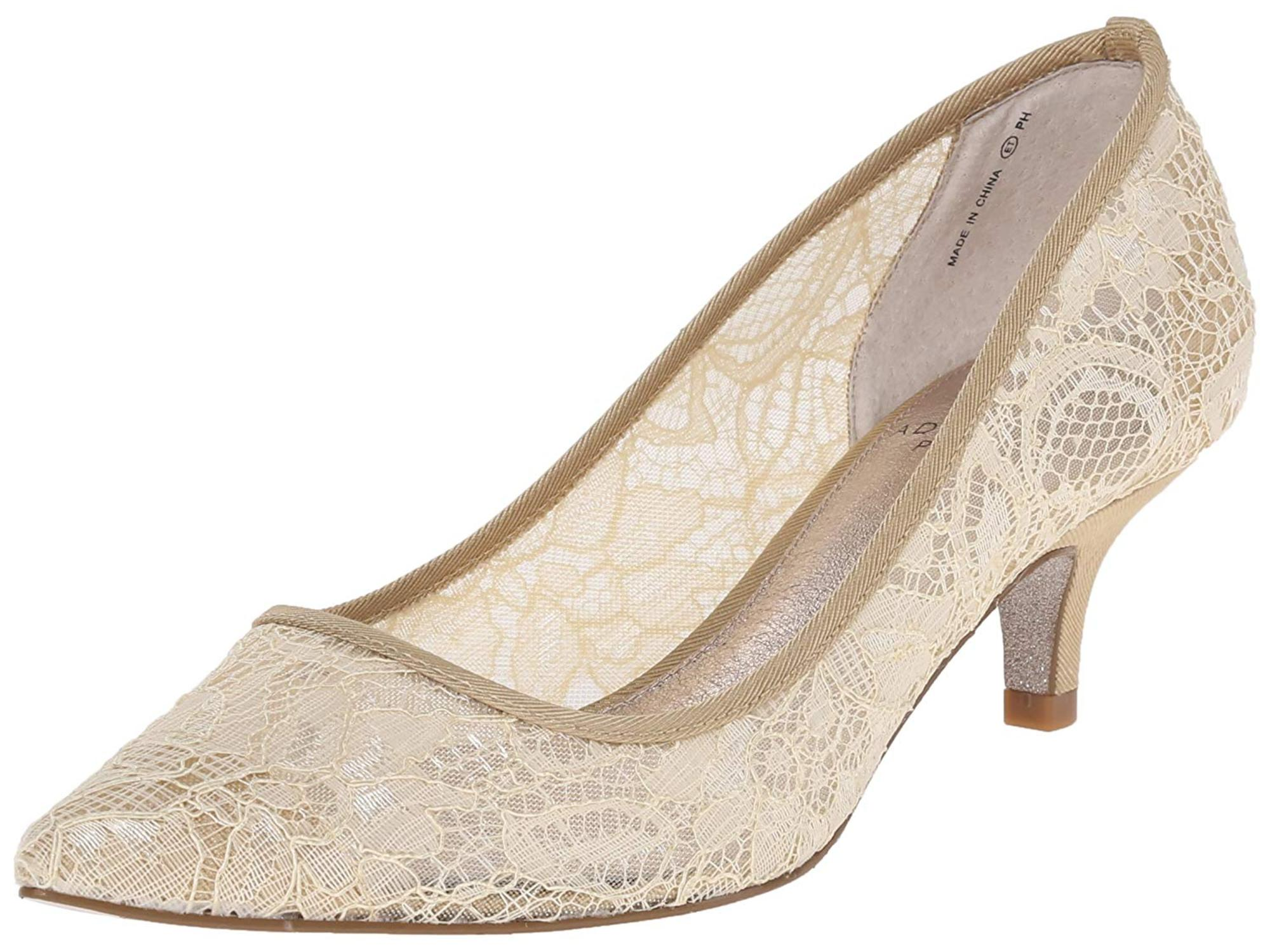 8d07c20192f58 Adrianna Papell Womens Lois Lace Pointed Toe Classic Pumps