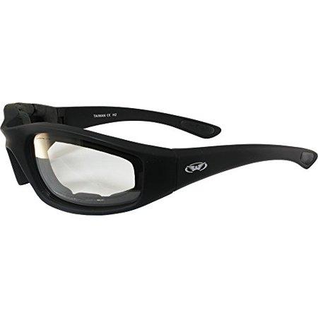 Kickback PHOTOCHROMIC - Light Adjusting Lenses - EVA Foam Padded Motorcycle (Light Adjusting Sunglasses)
