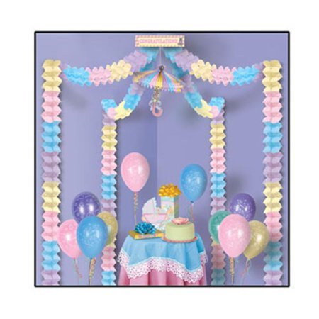 Baby shower party canopy pack of 6 for Baby shower canopy decoration