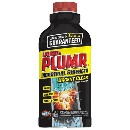 Liquid-Plumr Industrial Strength Urgent Clear Drain Clog Remover, 17 oz