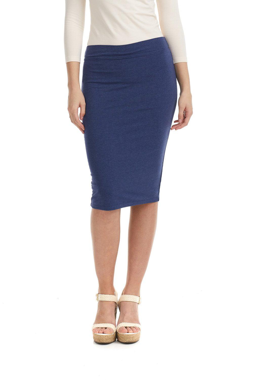 Details about  /Women/'s Wax  Waistband Fly Button Pencil Denim Knee Skirt