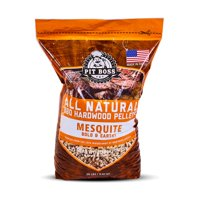 Pit Boss Texas Mesquite Hardwood Barbecue Grilling and Smoking Pellets - 20 lb Resealable Bag