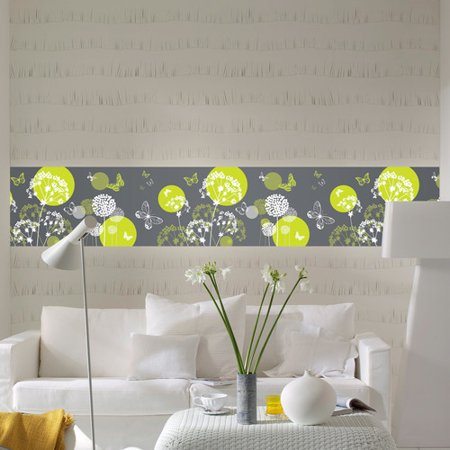 Brewster home fashions euro stripe world of butterflies for Brewster wall mural