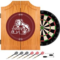 Mississippi State University Dart Cabinet With Darts and Board
