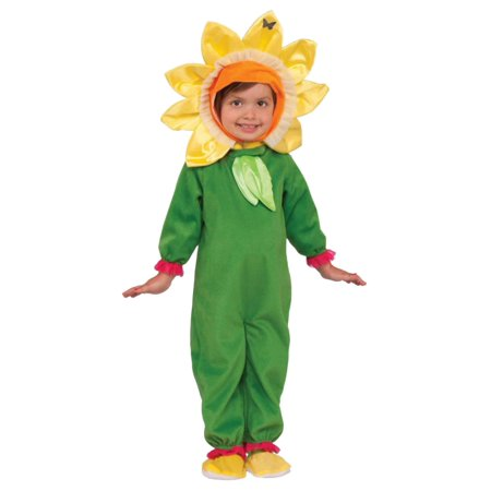 Toddler Girls Sunflower Costume Sun Flower Jumper Headpiece & Booties