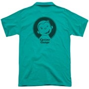 Curious George Classic Wink (Back Print) Mens Polo Shirt