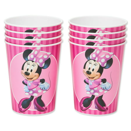 American Greetings Minnie Mouse 16oz Plastic Party Cups, 8-Count - Minnie Mouse Thank You Cards
