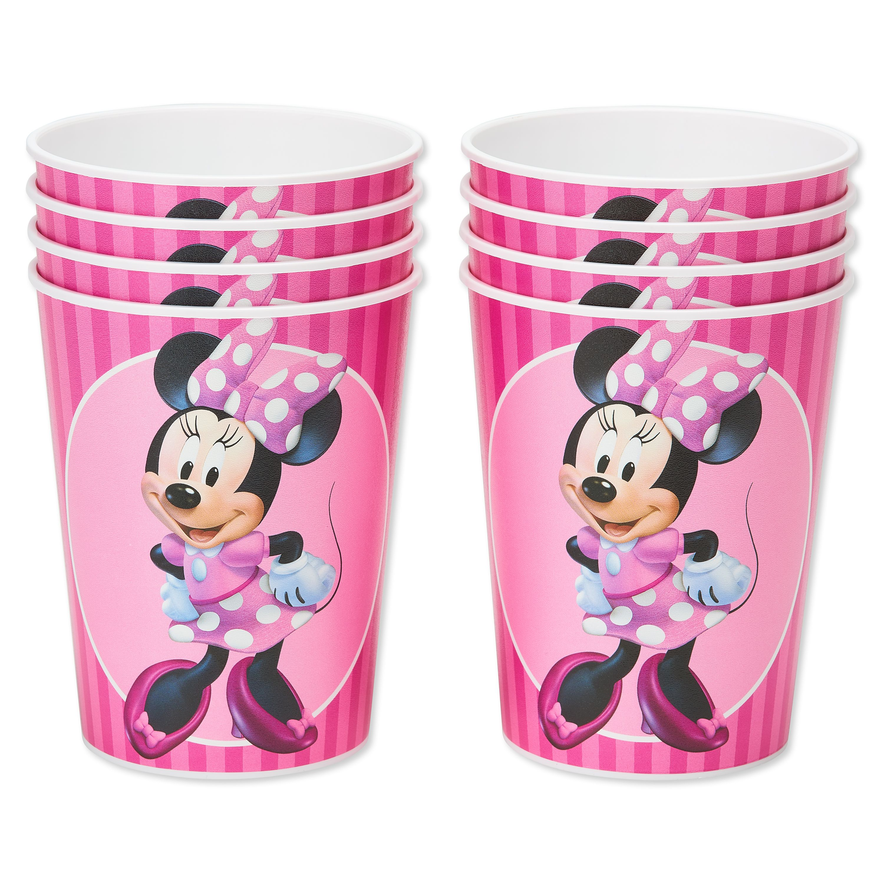 American Greetings Minnie Mouse 16oz Plastic Party Cups, 8-Count