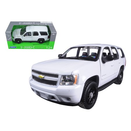 2008 Chevrolet Tahoe Unmarked Police Car White 1/24 Diecast Car Model by Welly (Tahoe Model Cars)