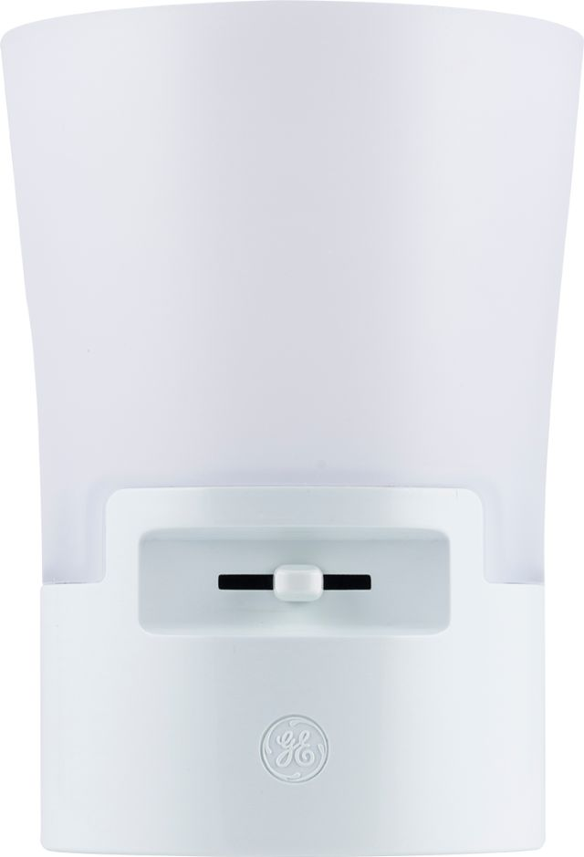 GE UltraBrite Automatic LED Dimmable Sconce Night Light, Plug-In, Up to 100 Lumens, White, 36265 by Jasco Products Company