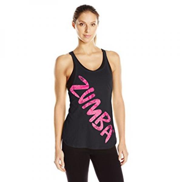 Zumba Womens Back in My CITY Tank, Back to black, Large by