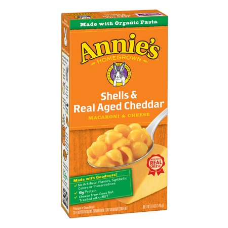 Annies Macaroni And Cheese Shells   Aged Cheddar Mac And Cheese 6 Oz