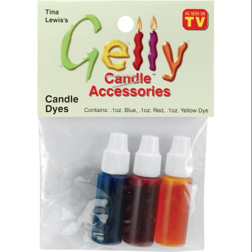 Gelly Candle Dye Assortment 1 Ounce Bottle 3/Pkg-Red, Yellow, Blue