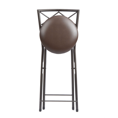 Stupendous Diamond Metal X Back Bronze 42 Folding Stool Tan Walmart Com Bralicious Painted Fabric Chair Ideas Braliciousco