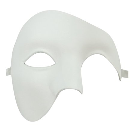 White Phantom of the Opera Half Face Men Masquerade Mask Costume Craft Party - Man Masquerade Masks