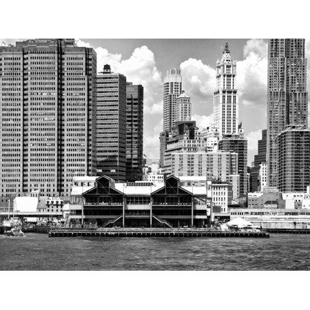 Pier 17, South Street Seaport, Manhattan, New York, United States, Black and White Photography Print Wall Art By Philippe