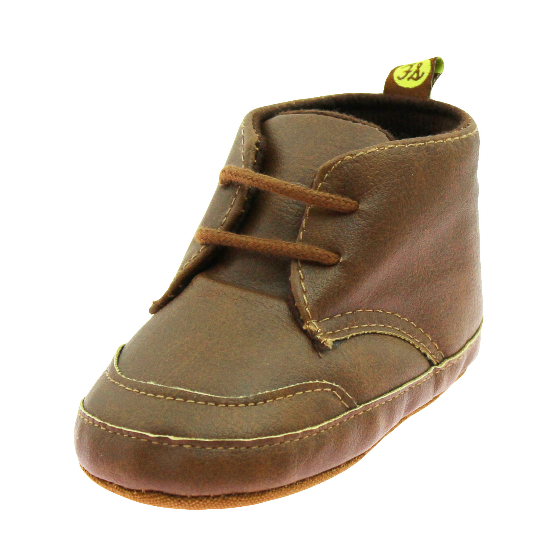 First Steps Baby Boys Chukka Lace Up Desert Ankle Boots Soft Sole Crib Shoes