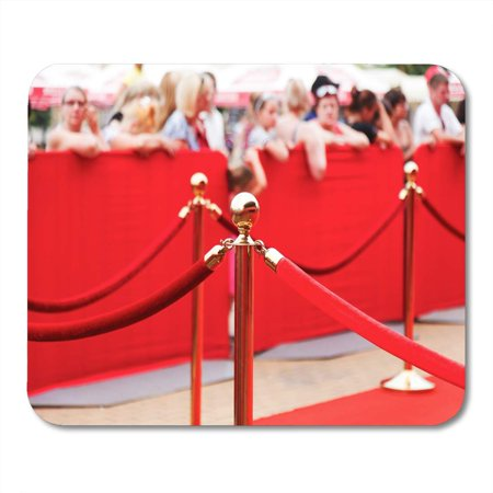 LADDKE Award Celebrity Way to Success Red Carpet Barrier Rope Mousepad Mouse Pad Mouse Mat 9x10