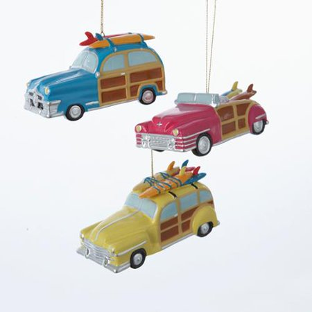 pack of 12 assorted porcelain woodie car with surfboards christmas ornaments 35 - Woodies Christmas Decorations