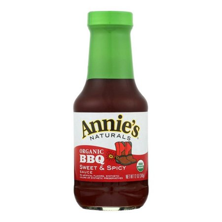Annie's Naturals Organic Sweet And Spicy Bbq Sauce - pack of 12 - 12