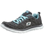 Skechers Flex Appeal Pretty City Womens Sneakers Black/Light Blue 10