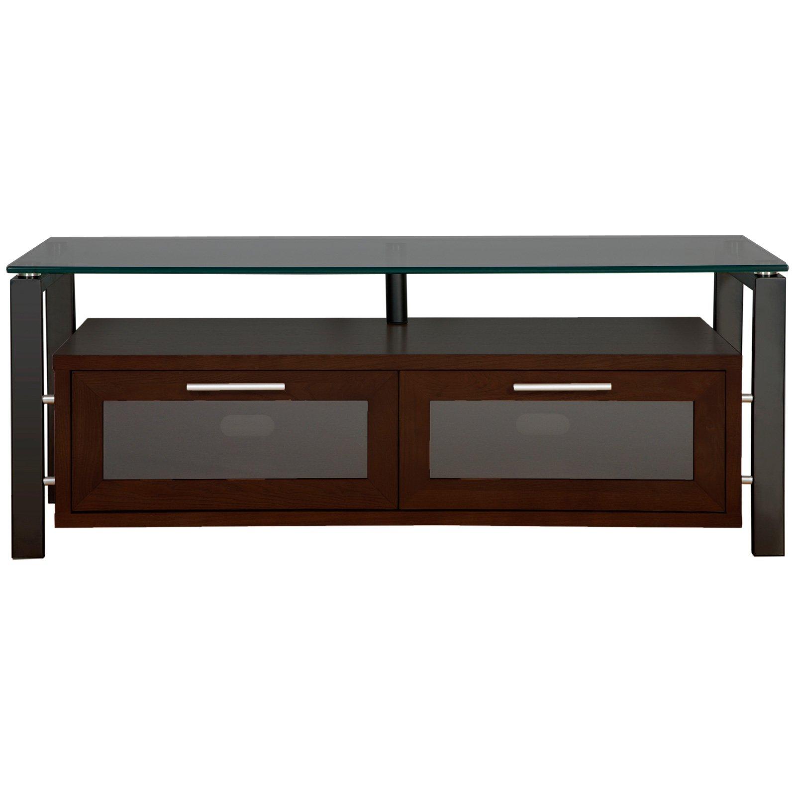 Plateau Decor 50 Inch TV Stand in Espresso/Black and Black