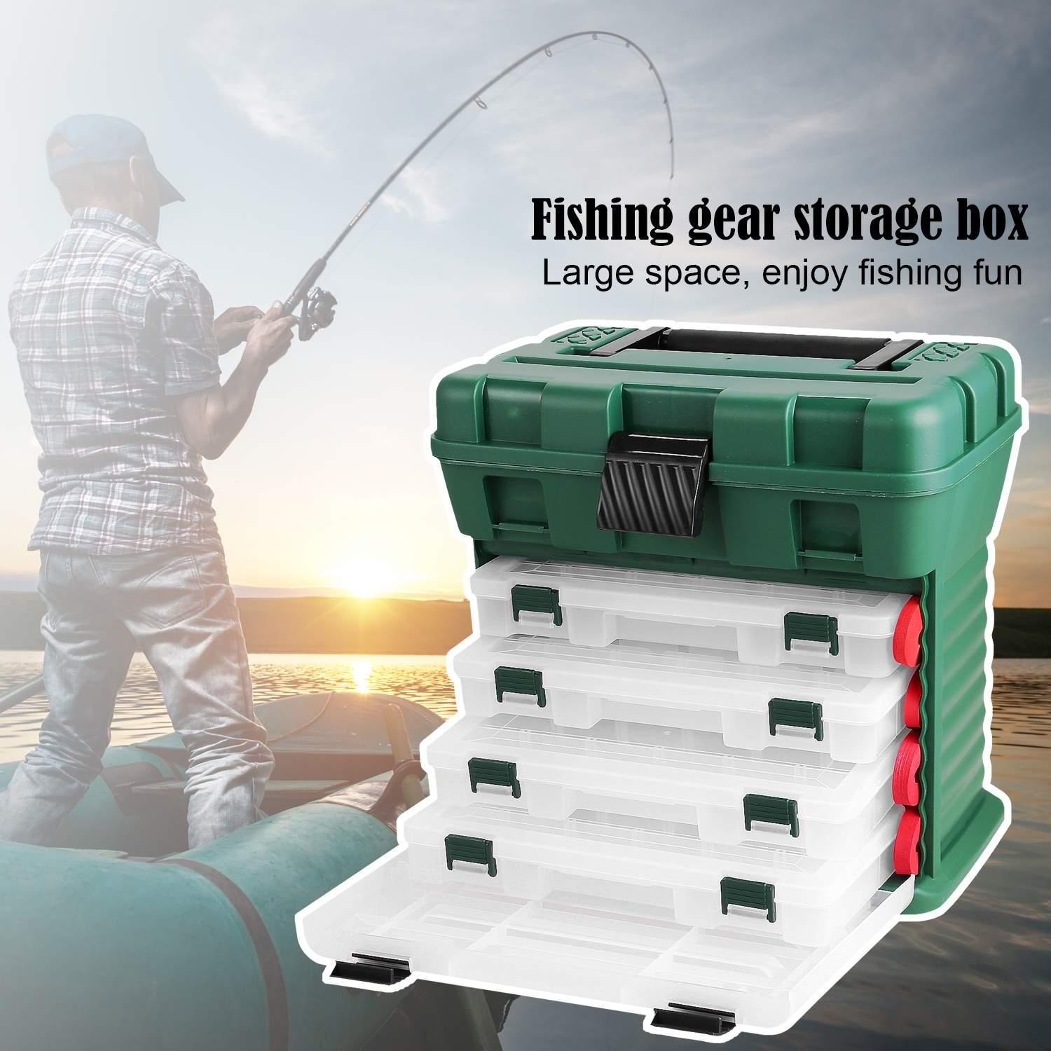 Professional Waterproof Fishing Box Fishing Tackle Box Multi-Function Large Fishing Tackle Gear Lure Storage WSY by