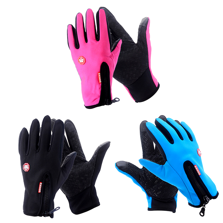Men Women Outdoor Climbing Cycling Sports Full Finger Touch Screen Gloves