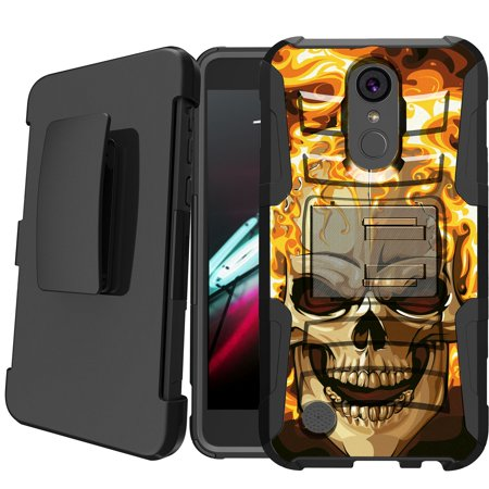 LG Aristo | LG Rebel 2 | LG Phoenix 3 Holster Case [ Case for Boys][Cool Phone Case Series]Built-In Kickstand + Bonus Holster - Fire - Phoenix Fire Band