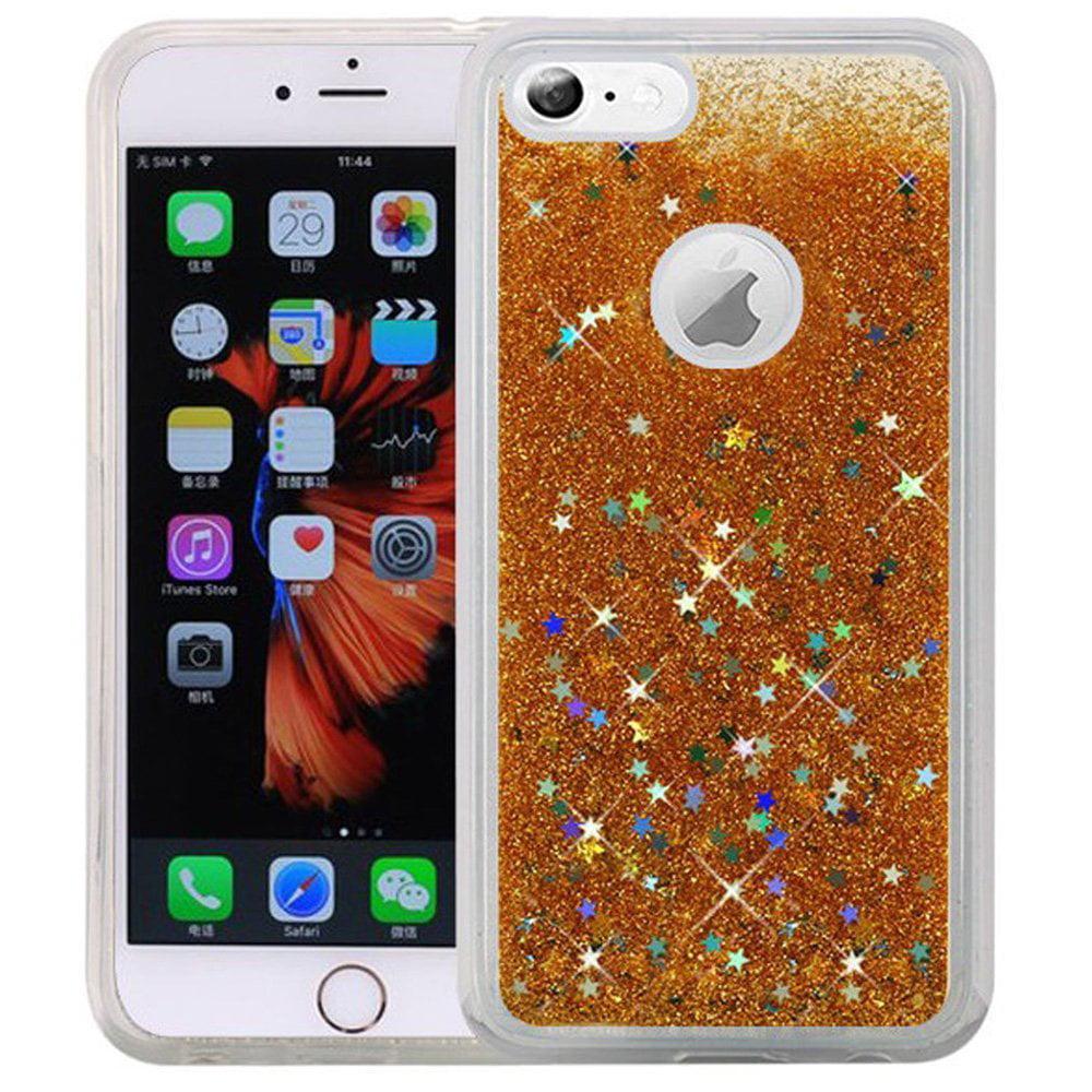 iphone 6s plus case premium luxury glitter sparkle bling hybrid quicksand designer cover fashion tpu cover for apple iphone 6 plus iphone 6s plus gold flexible slim shockproof walmart com walmart com walmart