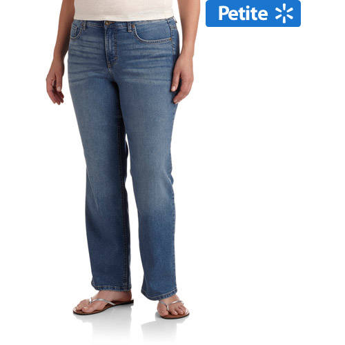 Faded Glory Women's Plus-Size Comfort Waist Slim Bootcut Jeans, Available in Regular and Petite Lengths