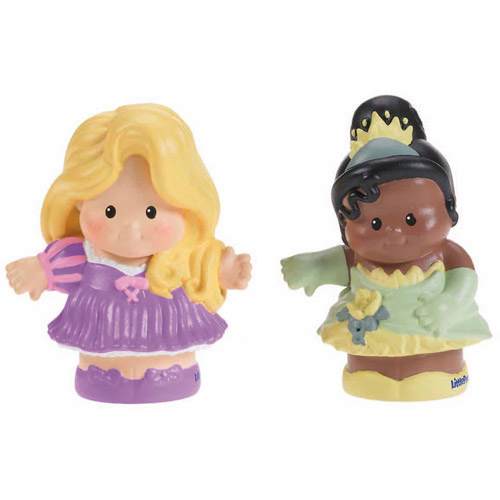 Fisher-Price Little People Disney Rapunzel & Tiana 2-Pack Action Figures