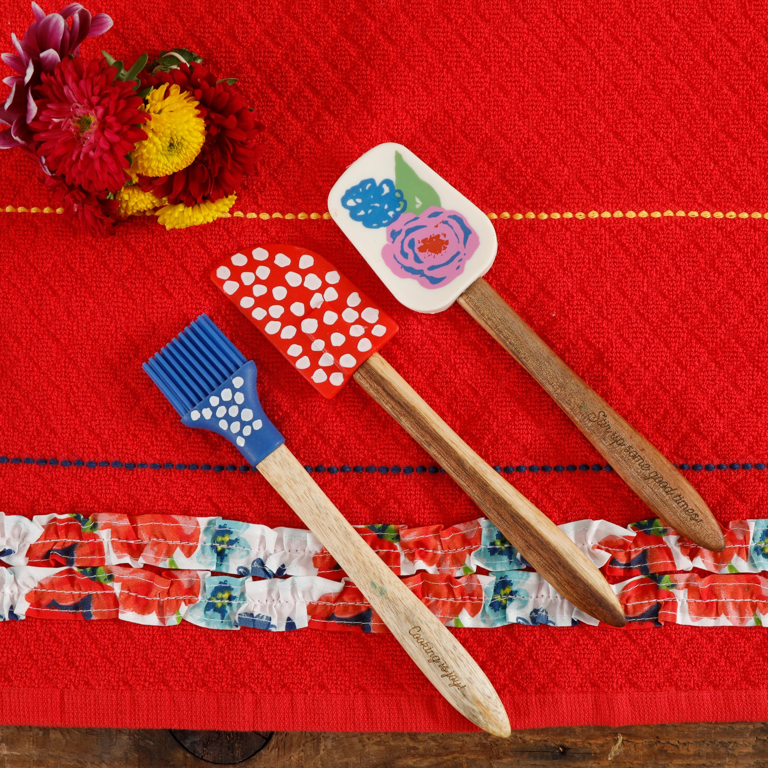 The Pioneer Woman Spring Mini Silicone Tool Set, 3 Piece