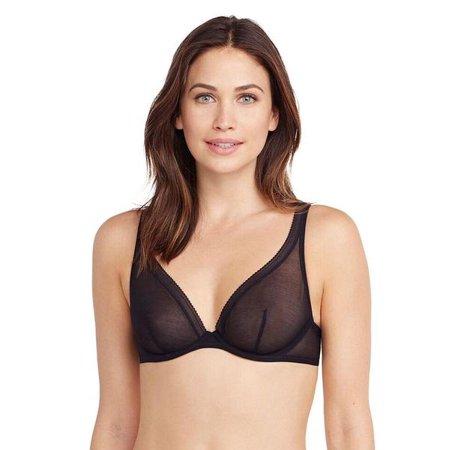 301f2d87889e1 OnGossamer - OnGossamer Cotton Mesh Unlined Underwire Bra  G4130 - Black    32C - Walmart.com