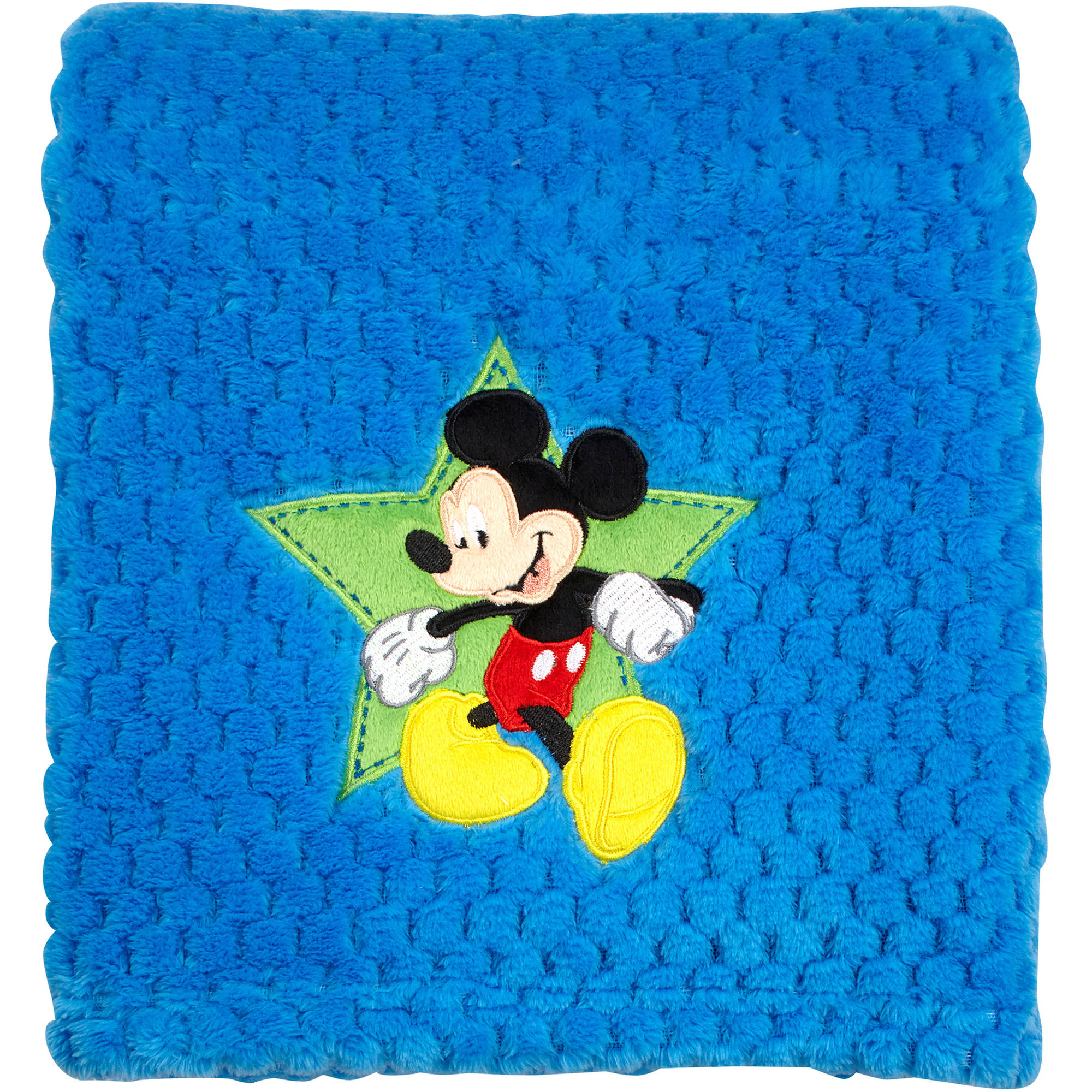 Disney Mickey Mouse Plush Popcorn Applique Blanket