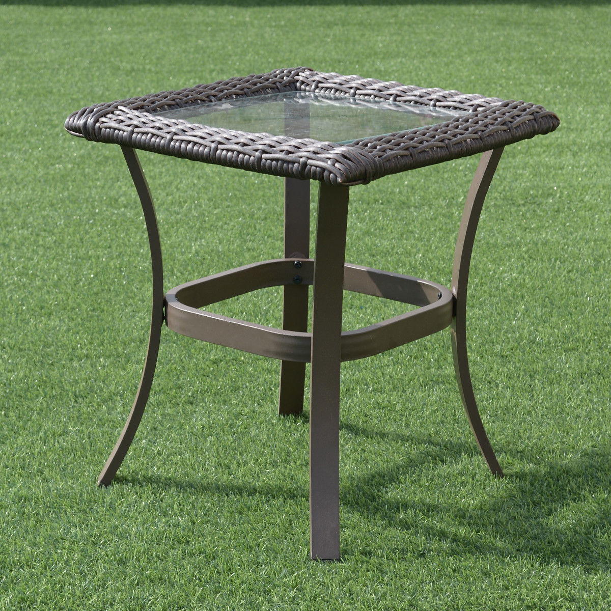 Gymax 3PC Patio Rattan Wicker Furniture Set Cushioned Outdoor Garden - image 4 of 8