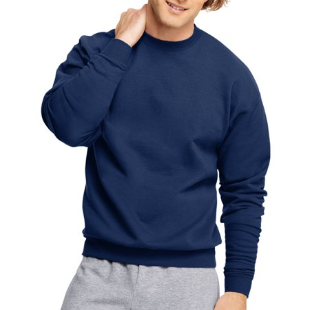 Hanes Mens EcoSmart Fleece Crew Neck Sweatshirt - Navy S