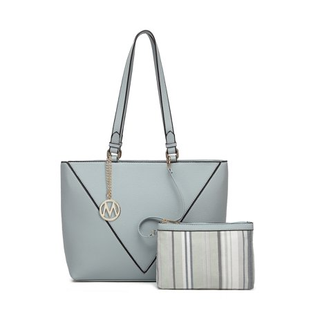 MKF Collection Pipa Shopper Tote with Wristlet by Mia K (Flower Shopper Tote)