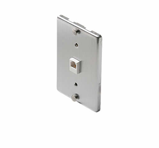 Steren ST-300-095M 4C Steel Wall-Phone Jack