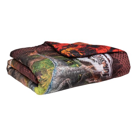 Jurassic World 2-Piece Comforter and Sham Set, Kids Bedding, Twin/Full