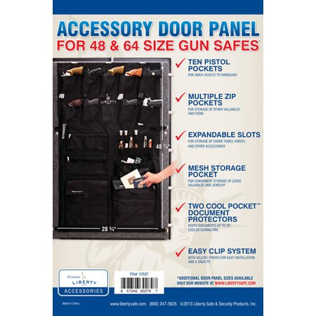 Liberty Accessory Door Panel For 48 Cubic Foot Gun Safes 10587 Cubic Foot French Door