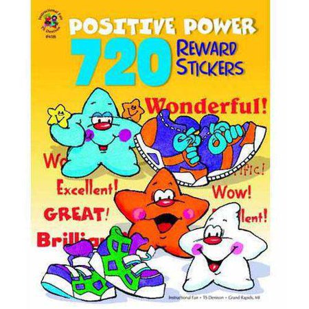 Mini Reward Stickers - Instructional Fair 720 Reward Stickers Positive Power Stickers Sticker Book, 1