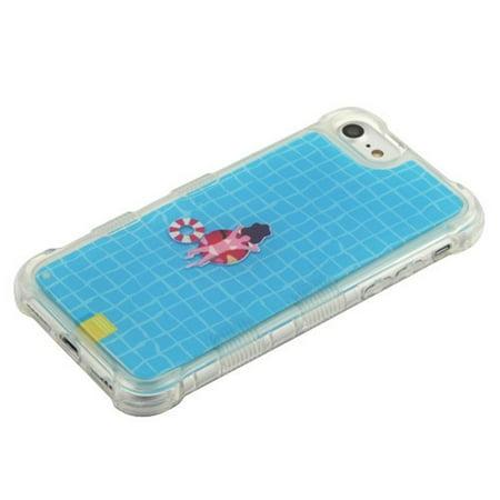 Apple iPhone 6/6s/7/8 Case, by Insten Tuff AquaLava Water Color Hard Plastic/Soft TPU Rubber Transparent Case Cover For Apple iPhone 6/6s/7/8, Multi-Color - image 5 de 6