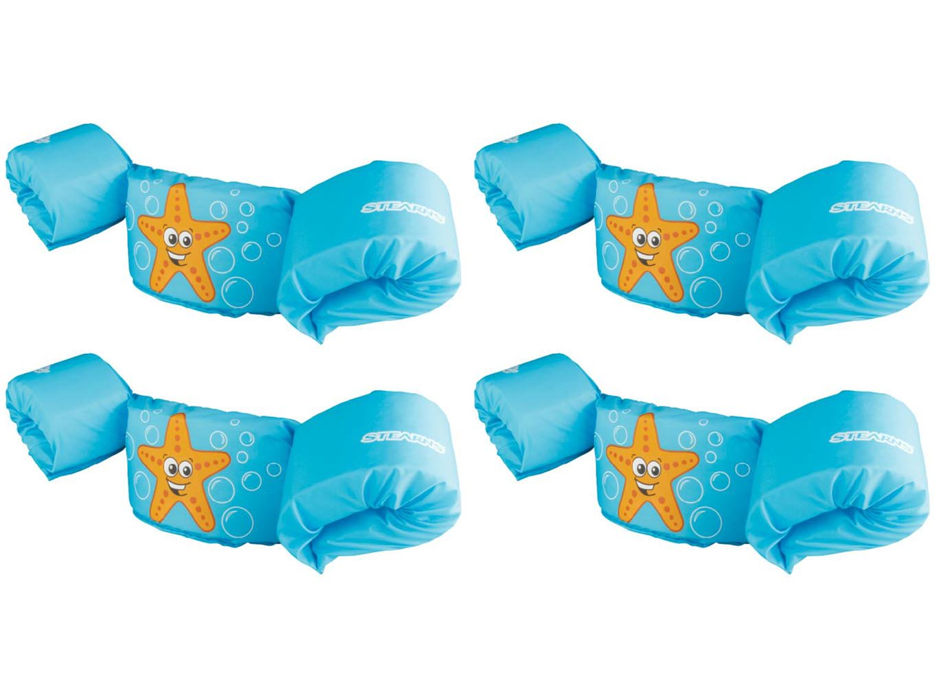 New (4) COLEMAN Stearns Kids Puddle Jumper Swimming Life Jackets | Blue Starfish by COLEMAN