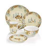 222 Fifth First Snow 16 Piece Dinnerware Set
