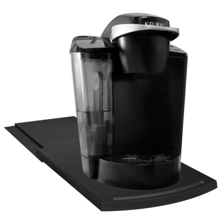 Evelots Sliding Kitchen Caddy Coffee Maker E Saver Counter Tray Black